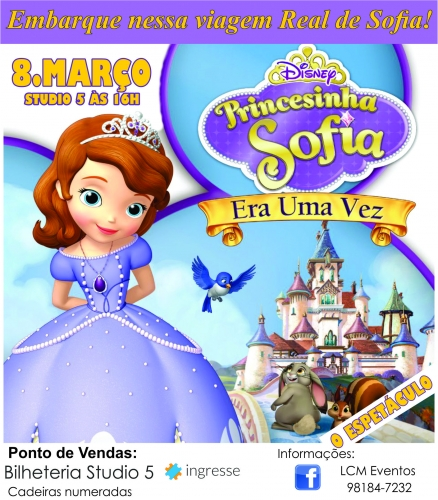 Ingresso Ingressos A Princesa Sofia – O Musical