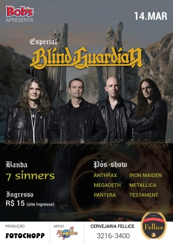 Ingresso Ingressos Especial Blind Guardian