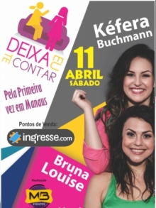Ingresso Ingressos Kefera Buchman e Bruna Louise