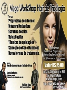 Ingresso Ingressos Mega Workshop Hair de Tricologia